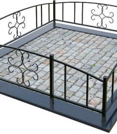 Металлическая ограда №11